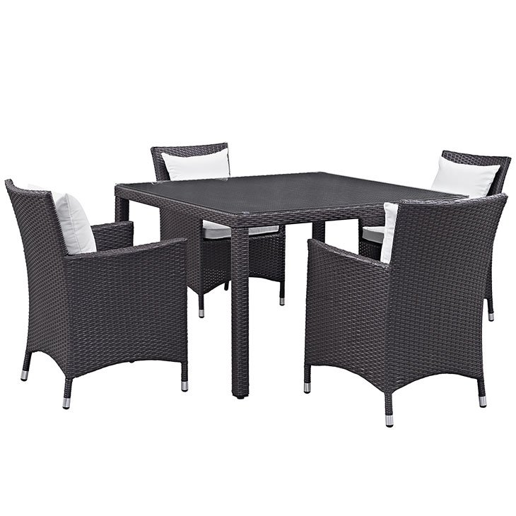 Wicker Rattan Outdoor Dining Table And Chairs Furniture Setting Outdoor Furniture