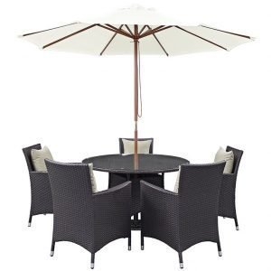 7 Piece Outdoor Patio Dining Set w Umbrella