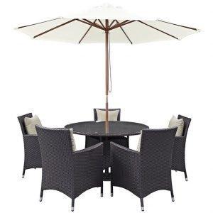 7 Piece Outdoor Patio Dining Set w Umbrella