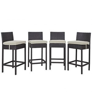 4 piece rattan patio pub set