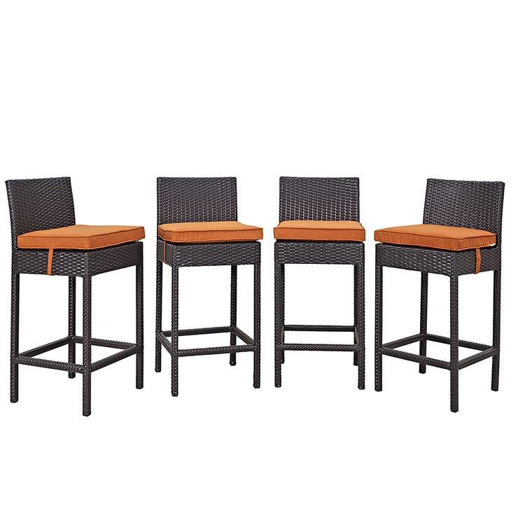 4 piece rattan patio pub set