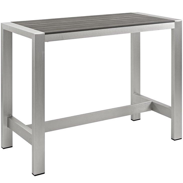 Aluminum Patio Bar Table Eei 2253, Aluminum Patio Bar Set