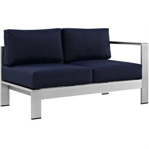 Aluminum Left Arm Love Seat