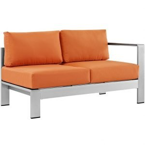 `Aluminum Left Arm Love Seat