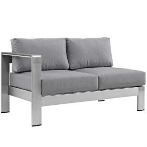 Right Arm Loveseat in Gray