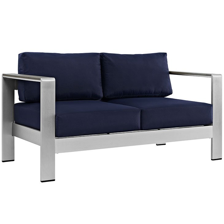 aluminum patio love seat, metal love seat, patio outdoor chair