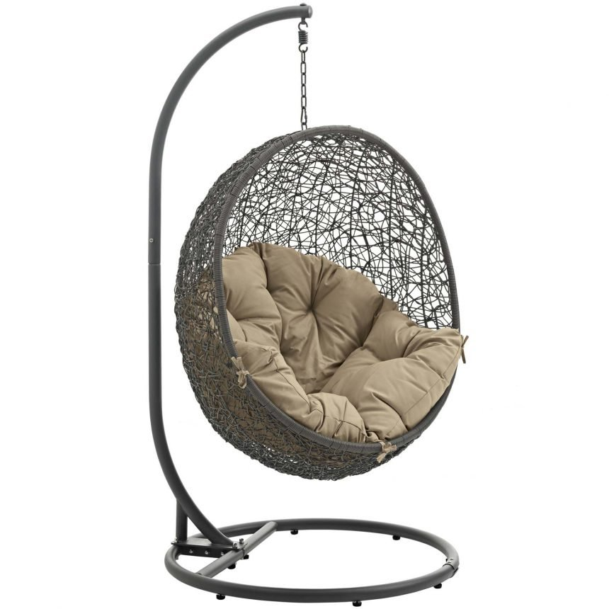 Hanging Chair with Stand Gray Mocha