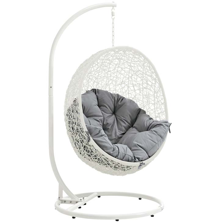 Swing Chair White and Gray