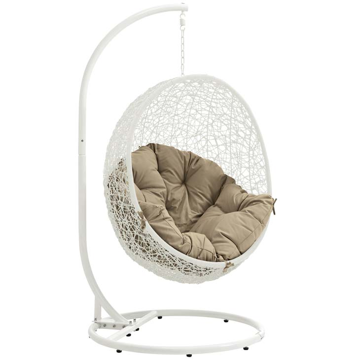 Swing Chair White and Mocha