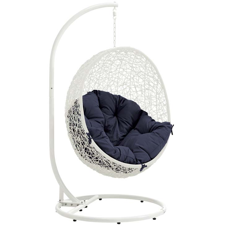 Swing Chair White and Navy