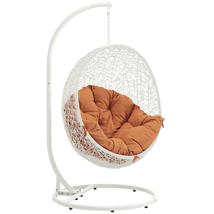 Swing Chair White and Orange