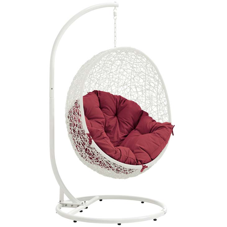 Swing Chair White and Red