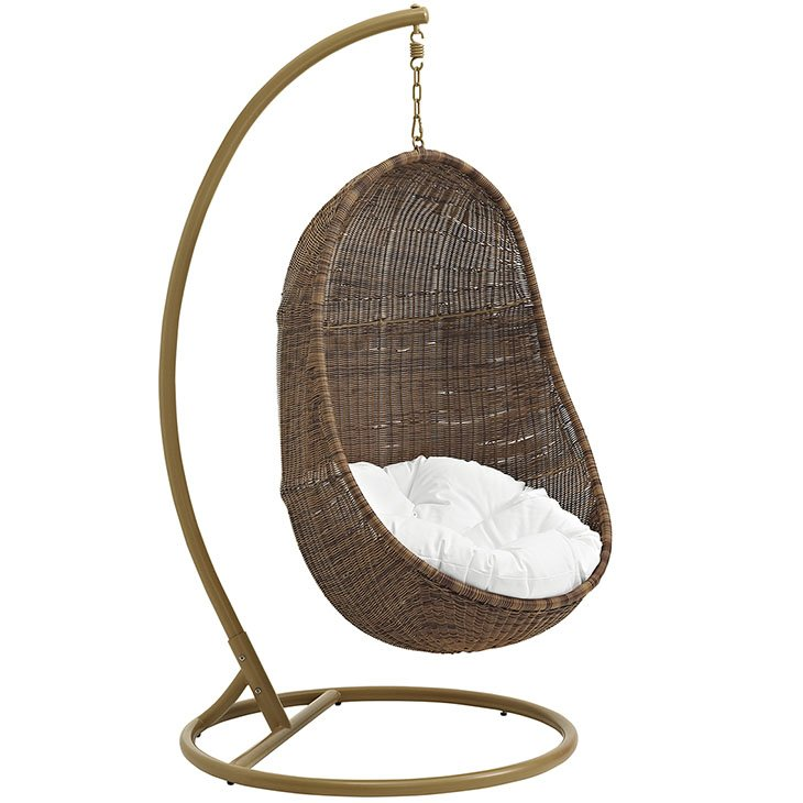 Patio Wood Swing Chair With Stand Patio Furniture Co