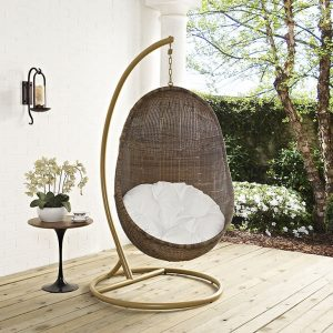 Patio Wood Swing with Stand
