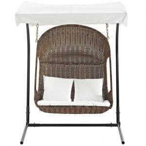 Double Rattan Swing Chair