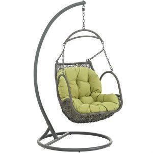 Outdoor Patio Wood Swing Chair in Peridot EEI-2279