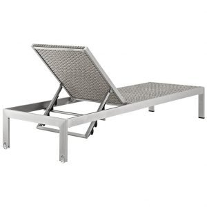 2 Piece Patio Chaise Set Back View