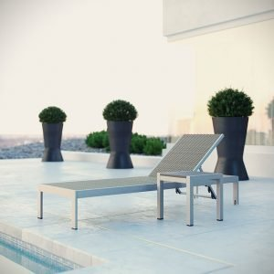 2 Piece Patio Chaise Set