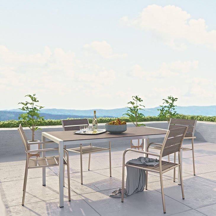 Modern Outdoor Furniture Set Aluminum Chairs