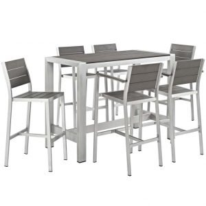 aluminum dining set, patio pub set, outdoor dining set, outdoor patio dining set
