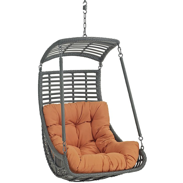 Outdoor Patio Swing Chair Without Stand in Orange EEI-2655