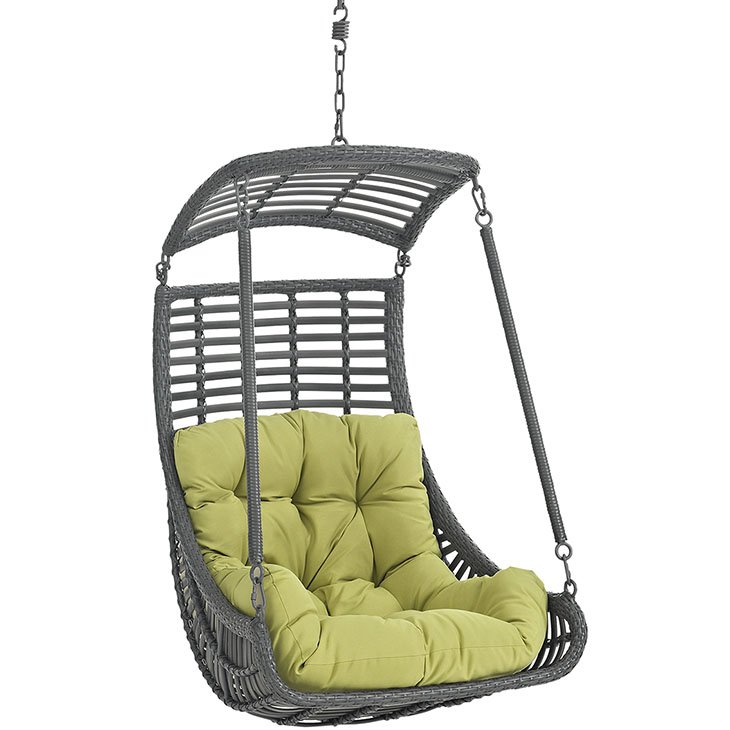 Outdoor Patio Swing Chair Without Stand in Peridot EEI-2655