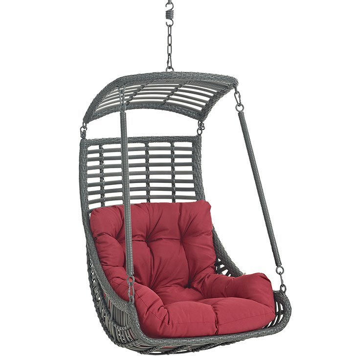 Outdoor Patio Swing Chair Without Stand in Red EEI-2655