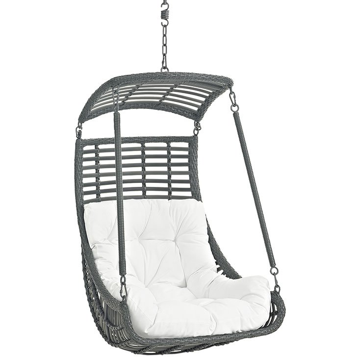 Outdoor Patio Swing Chair Without Stand in White EEI-2655