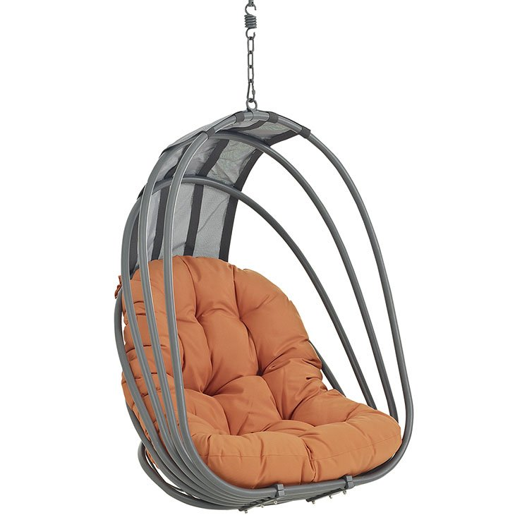 Outdoor Patio Swing Chair Without Stand in Orange EEI-2656