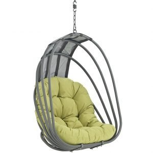 Hanging Swing Chair with Green Cushion