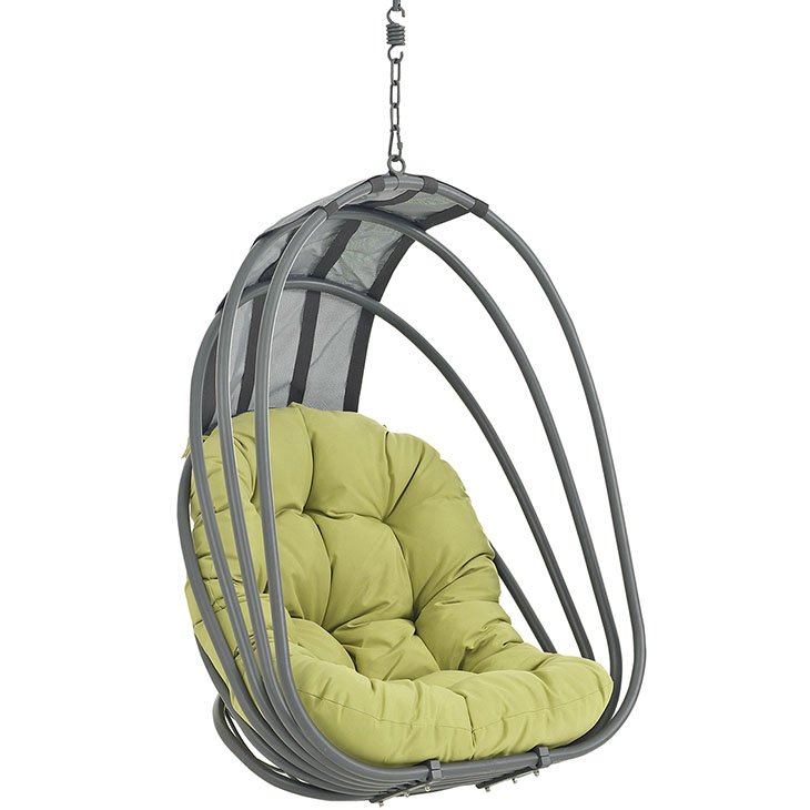 Outdoor Patio Swing Chair Without Stand in Peridot EEI-2656