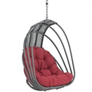 Outdoor Patio Swing Chair Without Stand in Red EEI-2656