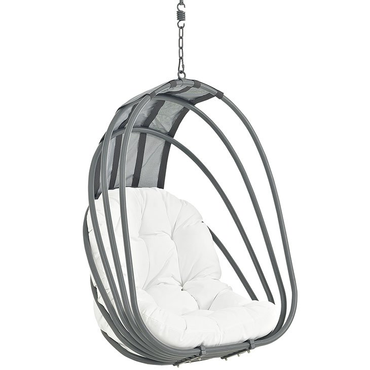 Outdoor Patio Swing Chair Without Stand in White EEI-2656