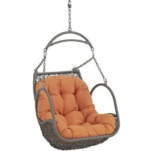 Outdoor Patio Swing Chair Without Stand in Orange EEI-2659