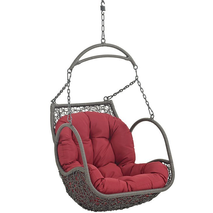 Outdoor Patio Swing Chair Without Stand in Red EEI-2659