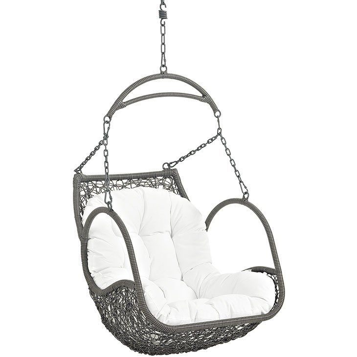 Outdoor Patio Swing Chair Without Stand in White EEI-2659