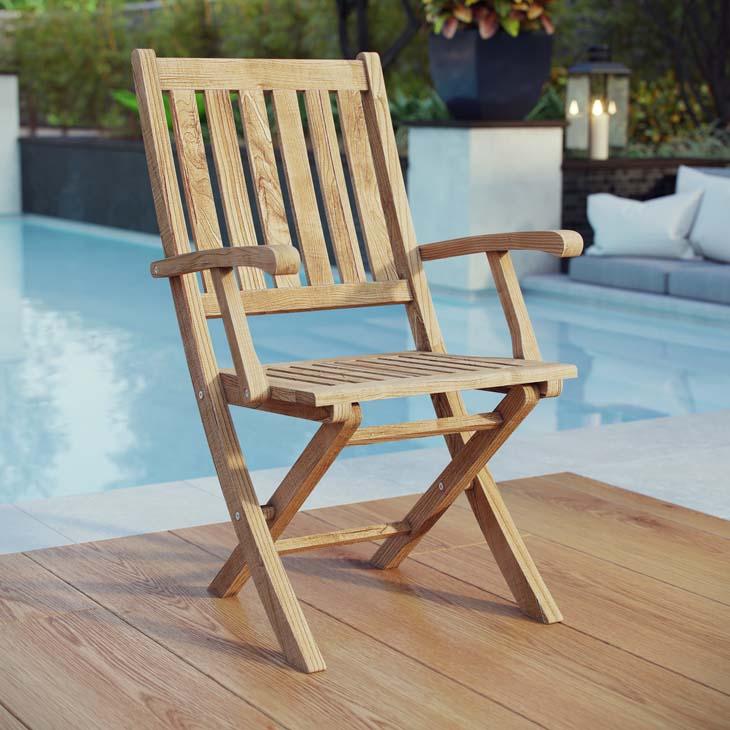 Teak Patio Folding Chair