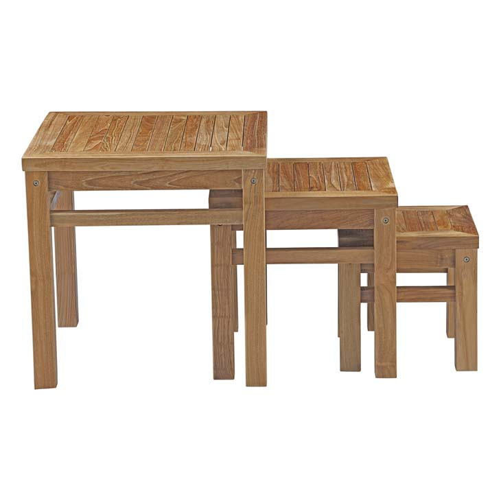 Teak Wood Nesting Tables