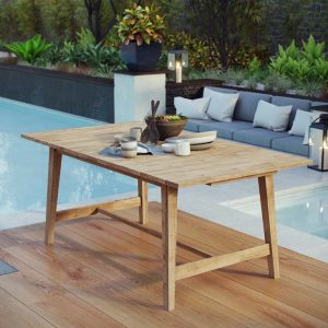 Teak Outdoor Table 39.5x72