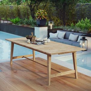 Outdoor Patio Dining Table 39.5x98.5
