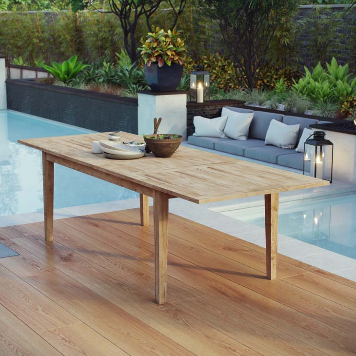 Extendable Teak Dining Table
