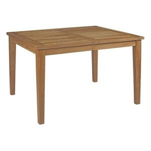 Patio Teak Dining Table 2714 extends from 70.5 wide to 108.5 wide
