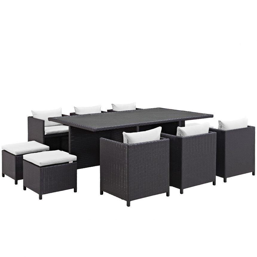 Outdoor Patio Dining Set in Espresso White-EEI-644-EXP-WHI-SET_1_