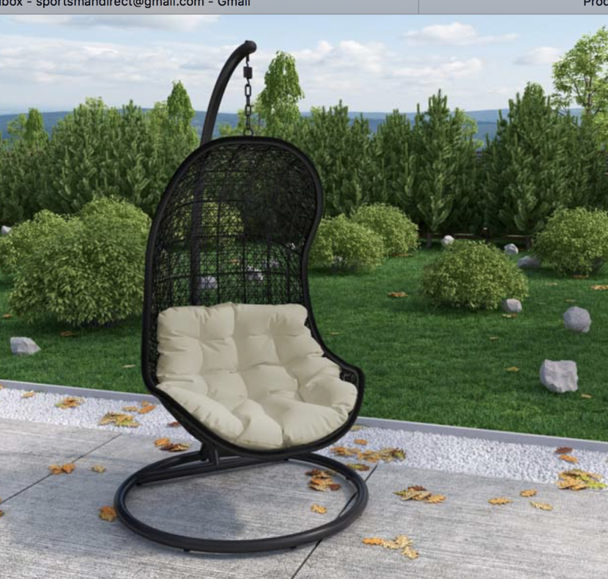 Wicker Rattan Hanging Swing Chair