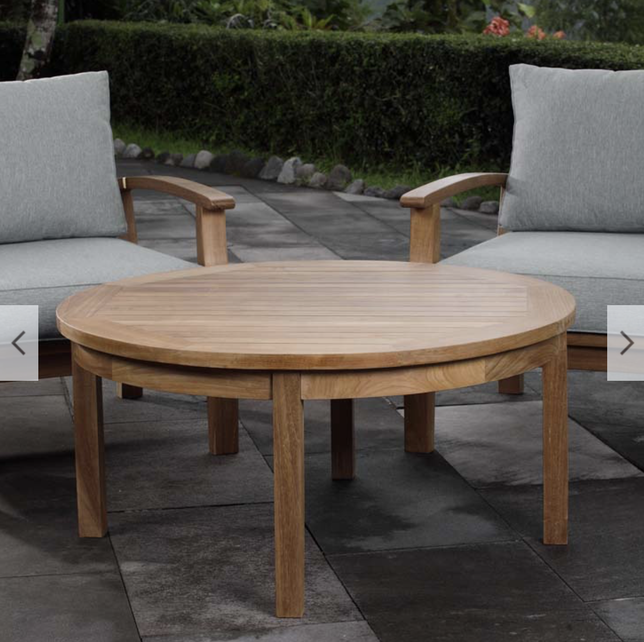 Outdoor Patio Teak Round Coffee Table