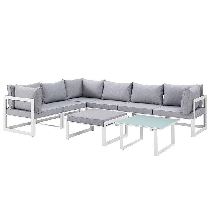 8 Piece Outdoor Patio Sectional Sofa Set