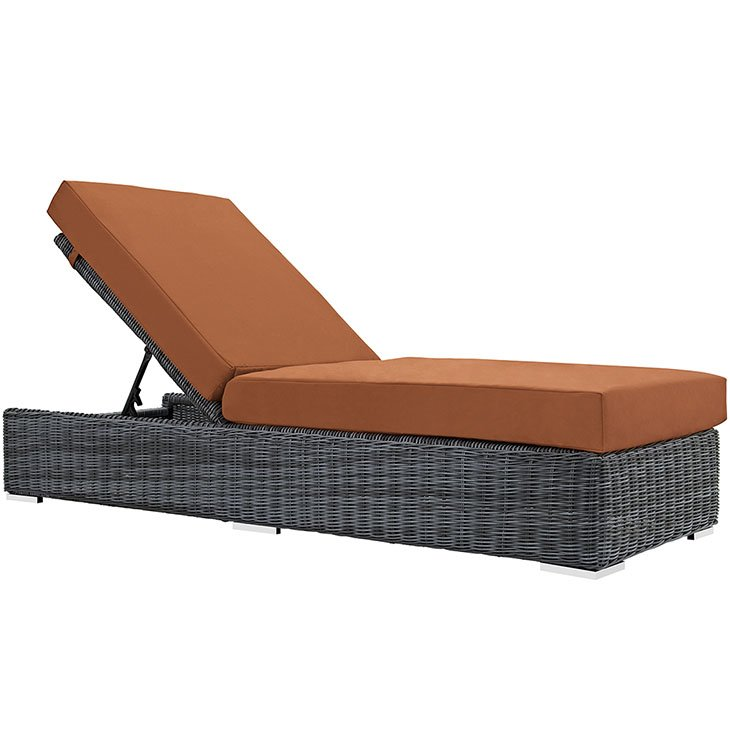 12 Piece Outdoor Wicker Rattan SUNBRELLA® Sectional Chaise in Canvas Tuscan