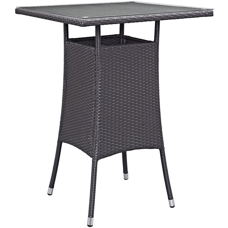 Rattan Patio Bar Table