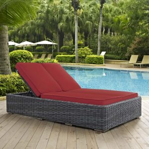 Double Outdoor Patio Sunbrella® Chaise EEI-1994