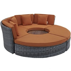 Two-toned Wicker Rattan with Sunbrella cushions